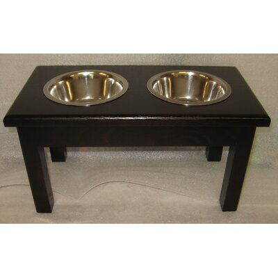 2 Bowl Pet Diner Finish: Espresso