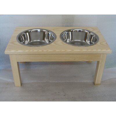 2 Bowl Pet Diner Finish: Natural