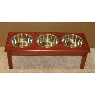 3 Bowl Pet Diner Finish: Cherry