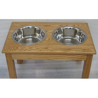 2 Bowl Pet Diner Finish: Medium Walnut