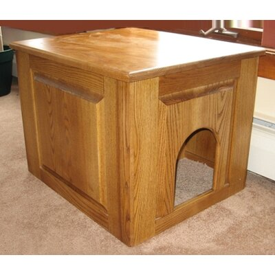 Raised Panel Litter Box Concealment Cabinet Finish: Cherry, Side Opening: Right
