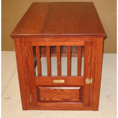 Ines Handmade Furniture-Style Pet Crate Size: Medium (27 H x 25 W x 40 L), Color: Cherry, Door: Front