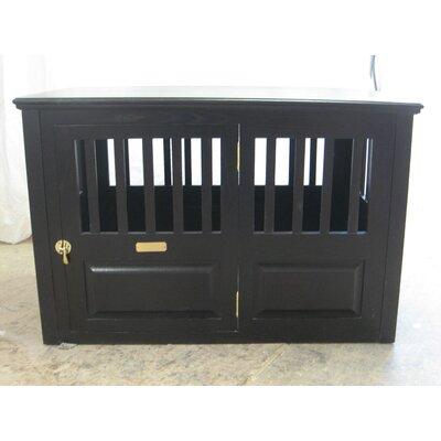 Ines Handmade Furniture-Style Pet Crate Size: Large (30 H x 29.25 W x 45.25 L), Color: Espresso, Door: Left Side Door