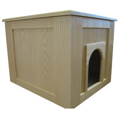 Flat Panel Litter Box Concealment Cabinet Finish: Natural, Side Opening: Right