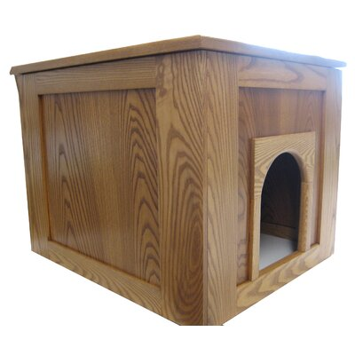 Flat Panel Litter Box Concealment Cabinet Finish: Medium Walnut, Side Opening: Left