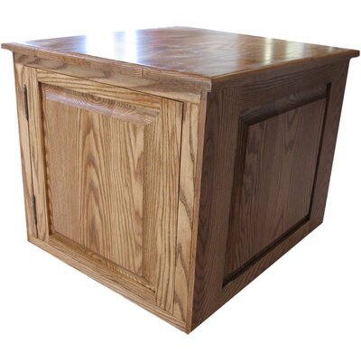 Raised Panel Litter Box Concealment Cabinet Finish: Medium Walnut, Side Opening: Right