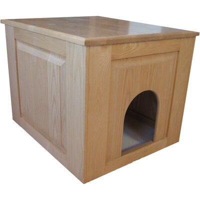 Raised Panel Litter Box Concealment Cabinet Finish: Natural, Side Opening: Left