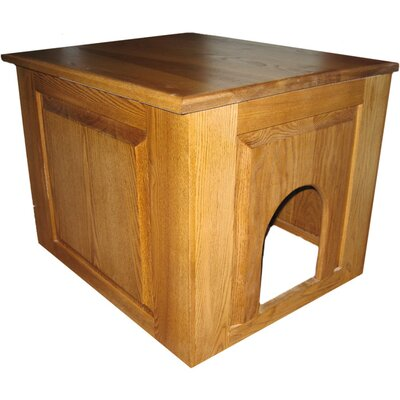 Raised Panel Litter Box Concealment Cabinet Finish: Cherry, Side Opening: Left