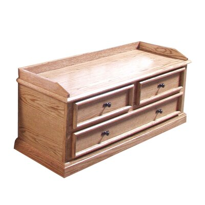 Forest Designs False-Drawer Mission Cedar Chest Finish: Golden Oak