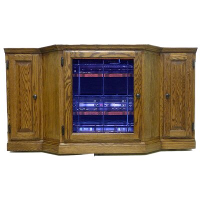 Traditional 56 Knob TV Stand Color: Chestnut Oak