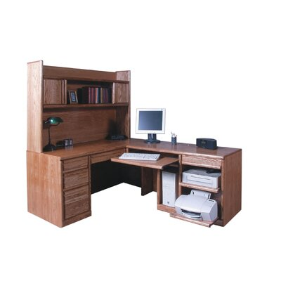 Pencil Rawer L Shape Computer Desk Hutch Product Photo 287