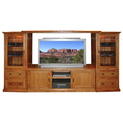 Mission Entertainment Center Color: Red Oak