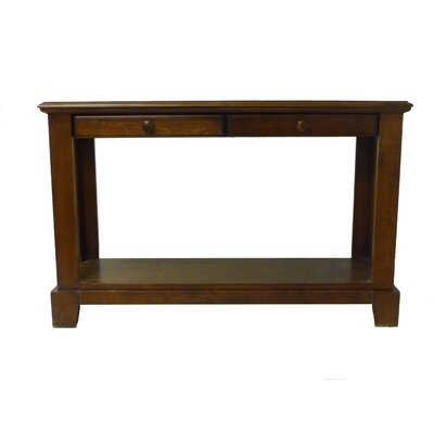 Console Table Finish: Antique Alder