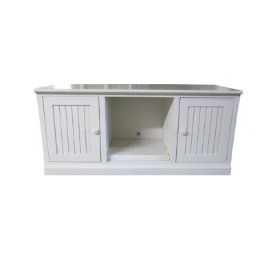 53 TV Stand Color: White Alder