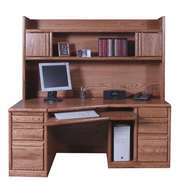 Stunning Double Pedestal Desk Hutch Product Photo