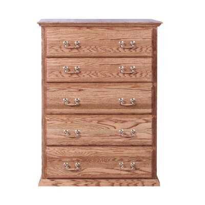 5 Drawer Chest Finish: Golden Oak