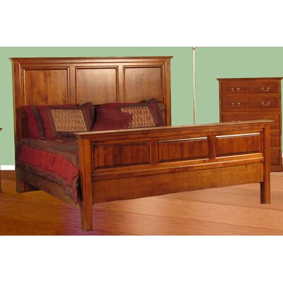 King Panel Bed Color: Spice Alder