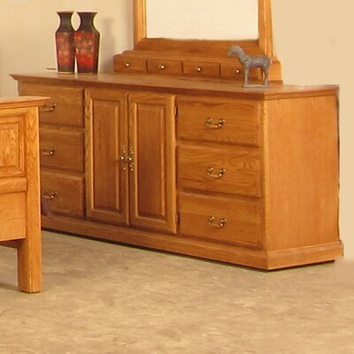 6 Drawer Combo Dresser Color: Spice Alder