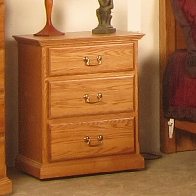 3 Drawer Nightstand Finish: Chestnut Oak