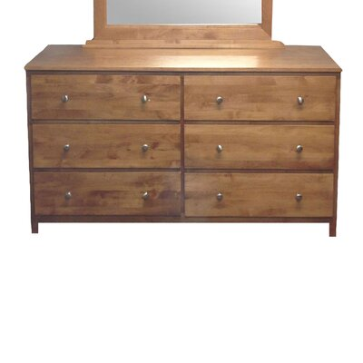 6 Drawer Standard Dresser Color: Honey Oak