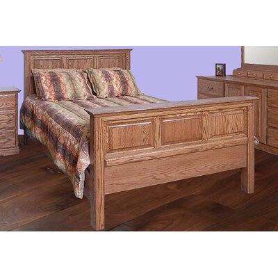 Panel Bed Color: Golden Oak, Size: Queen