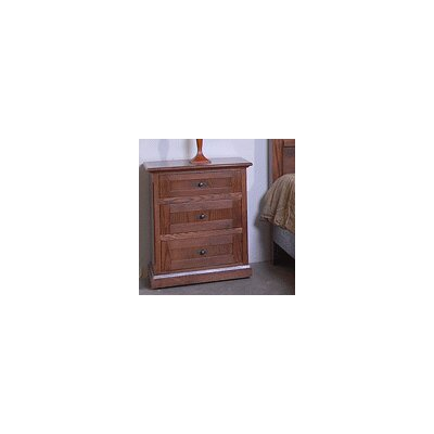 3 Drawer Nightstand Color: Chestnut Oak
