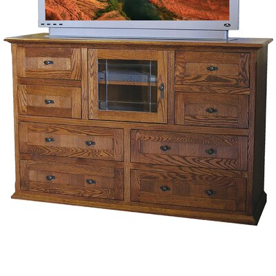8 Drawer TV Stand Finish: Coffee Alder