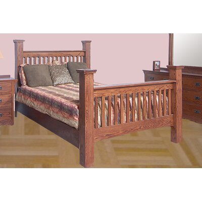 Queen Panel Bed Color: Red Oak