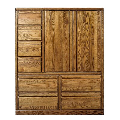 8 Drawer Armoire Finish: Honey Oak