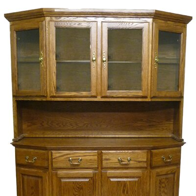 Angled 42 H x 61 W Desk Hutch Finish: Antique Alder