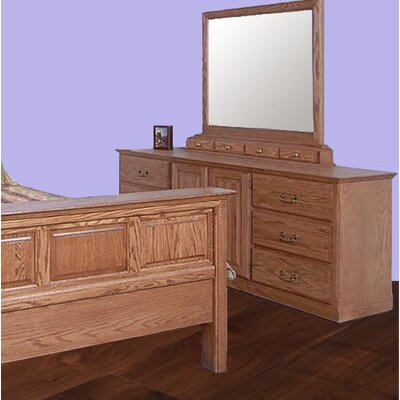 6 Drawer Combo Dresser with Mirror
