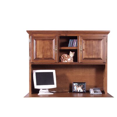 42 H x 56 W Desk Hutch Color: Coffee Alder