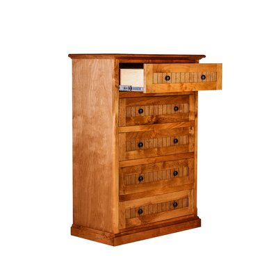 Cottage 5 Drawer Dresser Finish: Chestnut Oak