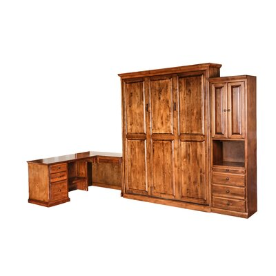 Queen Murphy Bed Finish: Antique Alder