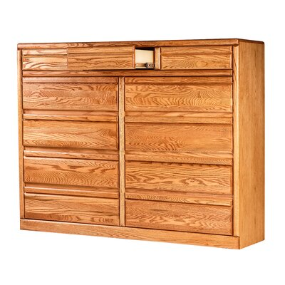 Bullnose 9 Drawer Dresser Finish: Golden Oak