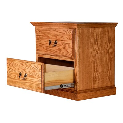 2 Drawer Nightstand Finish: Coffee Alder