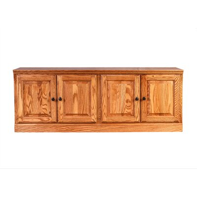Traditional Knob TV Stand Finish: Red Oak