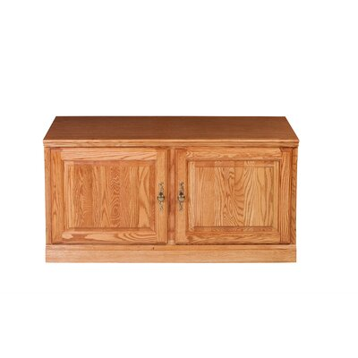 Traditional 42 TV Stand Color: Red Oak