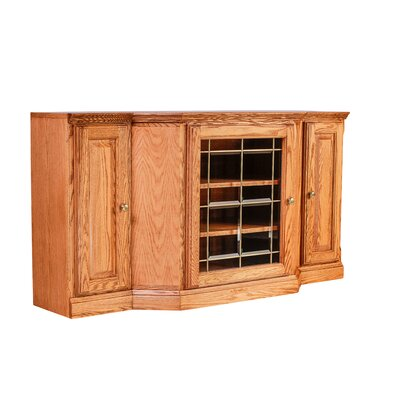 Traditional 56 TV Stand Color: Red Oak
