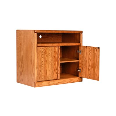 Bullnose 35 TV Stand Color: Red Oak