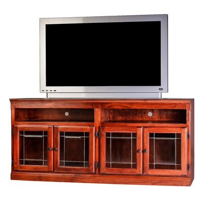 Traditional 66 TV Stand Color: Red Oak