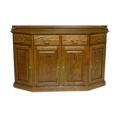 Angled China Cabinet Base Color: Antique Alder