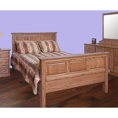 King Panel Bed Finish: Honey Oak