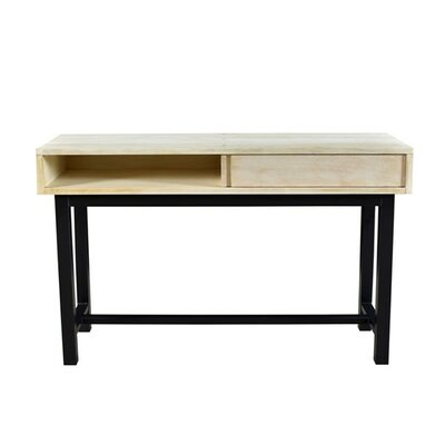 Dodson Console Table Finish: Bleached/Black