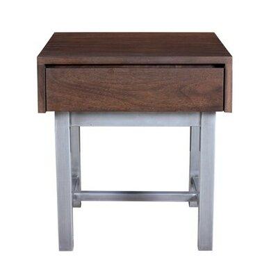 Dodson End Table Color: Stout/Chrome