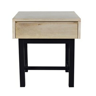 Dodson End Table Finish: Bleached/Black