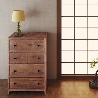 Palcon 4 Drawer Chest Color: Natural
