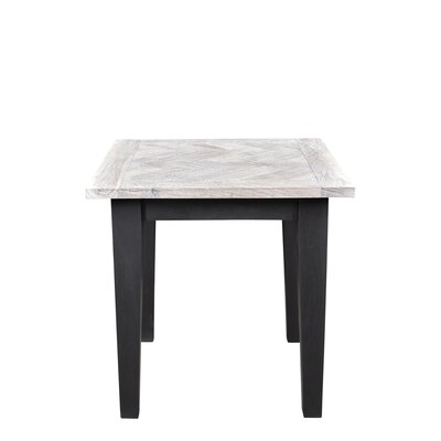 Ruiz End Table Color: Sandblast White/Black