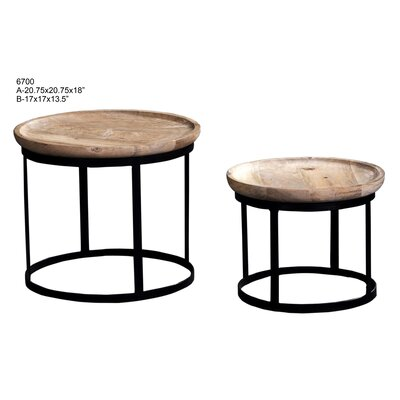 Kwabena 2 Piece End Table Set