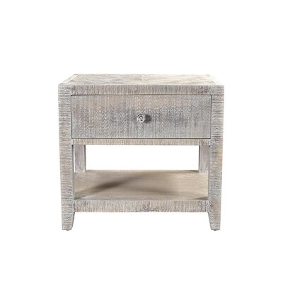 Palcon 1 Drawer Nightstand Finish: White Wash